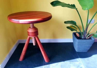 Rise and fall occasional side table